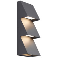 Pitch LED 15 inch Black Outdoor Wall Sconce