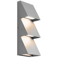 Tech Lighting 700WSPITTI-LED830 Pitch LED 15 inch Silver Outdoor Wall Sconce