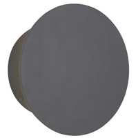 Tech Lighting 700OWPRTR9308FHUNVSSP Port Round LED 8 inch Charcoal Outdoor Wall Light