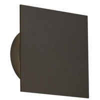 Tech Lighting 700OWPRTS9308FZUNVS Port Square LED 8 inch Bronze Outdoor Wall Light