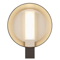 Tech Lighting 700WSRFGRSZG-LED927 Refuge LED 12 inch Bronze and Gold Haze Outdoor Wall Round