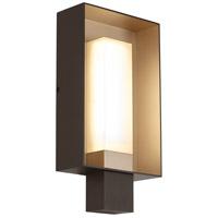 Tech Lighting 700WSRFGSLZG-LED927 Refuge LED 12 inch Bronze and Gold Haze Outdoor Wall Square