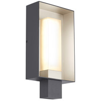 Refuge LED 12 inch Charcoal and Satin Haze Outdoor Wall, Square