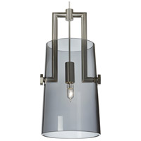 Tech Lighting 700KLRVRTBS Revere 1 Light 5 inch Black & Satin Nickel Low-Voltage Pendant Ceiling Light in Transparent Smoke Kable Lite Xenon