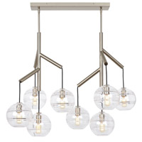 Tech Lighting 700SDNMPL2CS Sedona 25 inch Satin Nickel Double Chandelier Ceiling Light in Clear
