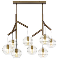 Tech Lighting 700SDNMPL2CR Sedona 25 inch Aged Brass Double Chandelier Ceiling Light in Clear