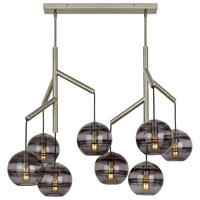 Tech Lighting 700SDNMPL2KS Sedona 25 inch Satin Nickel Double Chandelier Ceiling Light in Transparent Smoke