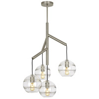 Tech Lighting 700SDNMPR1CS Sedona 25 inch Satin Nickel Chandelier Ceiling Light in Clear