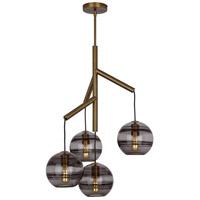 Tech Lighting 700SDNMPR1KR-LED927 Sedona LED 25 inch Aged Brass Chandelier Ceiling Light