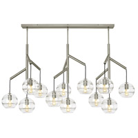 Tech Lighting 700SDNMPL3CS Sedona 25 inch Satin Nickel Triple Chandelier Ceiling Light in Clear