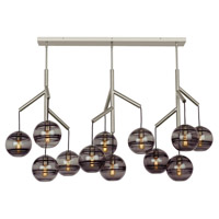 Sedona LED 63 inch Satin Nickel Triple Chandelier Ceiling Light