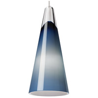 Tech Lighting 700MPSLNUS Selina 1 Light 4 inch Satin Nickel Pendant Ceiling Light in Halogen, Steel Blue, Monopoint