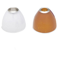 Soda Satin Nickel 3 inch Glass in Amber