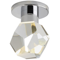 Sopra LED 5 inch Satin Nickel Semi Flush Ceiling Light