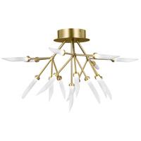 Tech Lighting 700FMSPRR-LED927 Spur LED 29 inch Aged Brass Flush Mount Ceiling Light