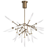 Spur LED 37 inch Aged Brass Chandelier Ceiling Light