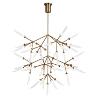 Spur LED 41 inch Aged Brass Chandelier Ceiling Light, Grande