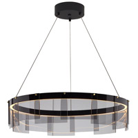 Stratos LED 24 inch Black Chandelier Ceiling Light