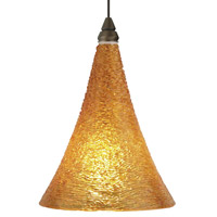 Sugar LED Antique Bronze Low-Voltage Pendant Ceiling Light in Amber, 2-Circuit MonoRail
