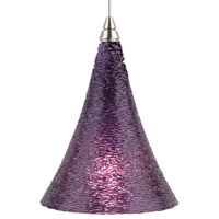 Sugar LED Satin Nickel Low-Voltage Pendant Ceiling Light in Violet, 2-Circuit MonoRail