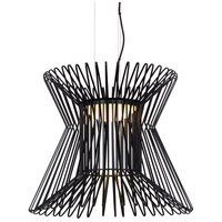 Syrma LED 22 inch Matte Black Pendant Ceiling Light