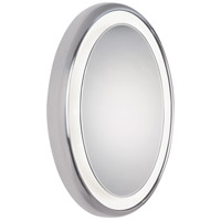 Tigris 35 X 25 inch Satin Nickel Lighted Mirror Home Decor