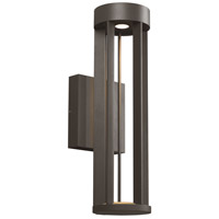 Turbo LED 18 inch Black Outdoor Wall Light
