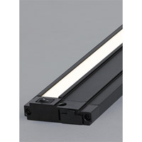 Unilume LED Slimline 120V LED 13 inch Black Cabinet Light