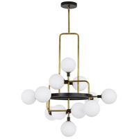 Viaggio LED 30 inch Black and Brass Chandelier Ceiling Light
