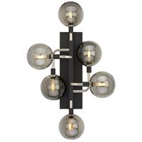 Viaggio LED 9 inch Black and Polished Nickel Wall Light in Smoke