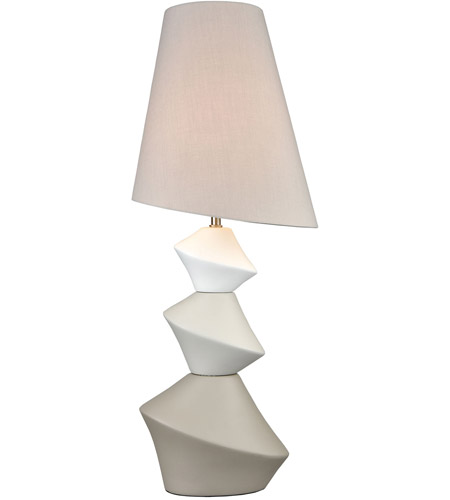 TrulyCoastal 30365-WGL Havana 31 inch 100 watt White with Grey and Taupe Table Lamp Portable Light photo
