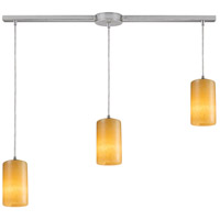 Truly Coastal 30812-SN Wrightsville Beach 3 Light 5 inch Satin Nickel Mini Pendant Ceiling Light in Incandescent Linear with Recessed Adapter Linear
