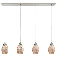 Truly Coastal 31004-SNGC Dewey Beach 4 Light 46 inch Satin Nickel Mini Pendant Ceiling Light in Incandescent Linear Linear