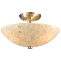 TrulyCoastal 30858-SNI Dewey Beach 3 Light 16 inch Satin Nickel Semi Flush Mount Ceiling Light