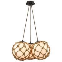 Truly Coastal 30885-ORR St. Marys 3 Light 22 inch Oil Rubbed Bronze Chandelier Ceiling Light in Standard