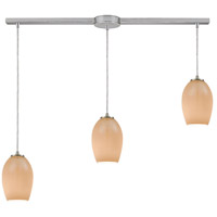 Truly Coastal 30955-SNPB Copacabana 3 Light 38 inch Satin Nickel Mini Pendant Ceiling Light in Linear with Recessed Adapter Linear