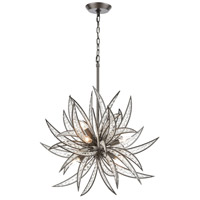 Truly Coastal 31045-DGCI Tulum 8 Light 26 inch Dark Graphite Pendant Ceiling Light