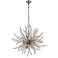Truly Coastal 31046-DGCI Tulum 11 Light 34 inch Dark Graphite Pendant Ceiling Light