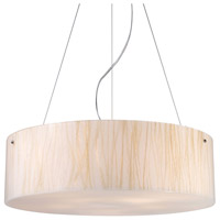 Truly Coastal 31081-PC Butterflyfish 5 Light 24 inch Polished Chrome Pendant Ceiling Light in Incandescent
