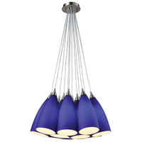 Truly Coastal 31134-SNB Shearwater 12 Light 20 inch Satin Nickel Mini Pendant Ceiling Light in Incandescent Round Canopy Nesting