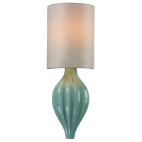 Truly Coastal 31192-AS Escambia Bay 1 Light 6 inch Aged Silver with Seafoam ADA Sconce Wall Light