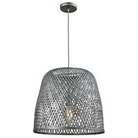 Truly Coastal 31613-WG Dominical Beach 1 Light 20 inch Weathered Grey Pendant Ceiling Light