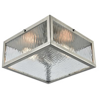 TrulyCoastal 31242-SNCR Harborside 2 Light 11 inch Satin Nickel Flush Mount Ceiling Light