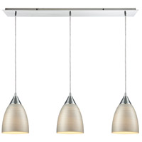 Truly Coastal 31558-PCSL Belle Mare 3 Light 36 inch Polished Chrome Mini Pendant Ceiling Light in Linear Linear