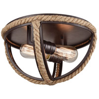 Truly Coastal 31577-OR South Bay 2 Light 13 inch Oil Rubbed Bronze Flush Mount Ceiling Light