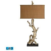 Truly Coastal 30585-SLL Cayo Largo 35 inch 9.5 watt Silver Leaf Table Lamp Portable Light in LED