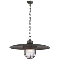 TrulyCoastal 30235-AS Kailua 1 Light 32 inch Aged Silver Pendant Ceiling Light in Incandescent