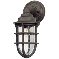 Truly Coastal 30230-NR Gannet 1 Light 12 inch Nautical Rust Outdoor Wall Lantern