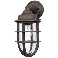 Truly Coastal 30231-NR Gannet 1 Light 15 inch Nautical Rust Outdoor Wall Lantern