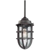 TrulyCoastal 30607-NR Gannet 1 Light 7 inch Nautical Rust Outdoor Pendant